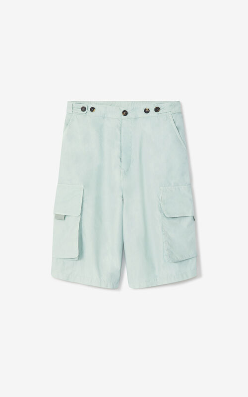 SAGE GREEN 'High Summer Capsule' cargo shorts for unisex KENZO