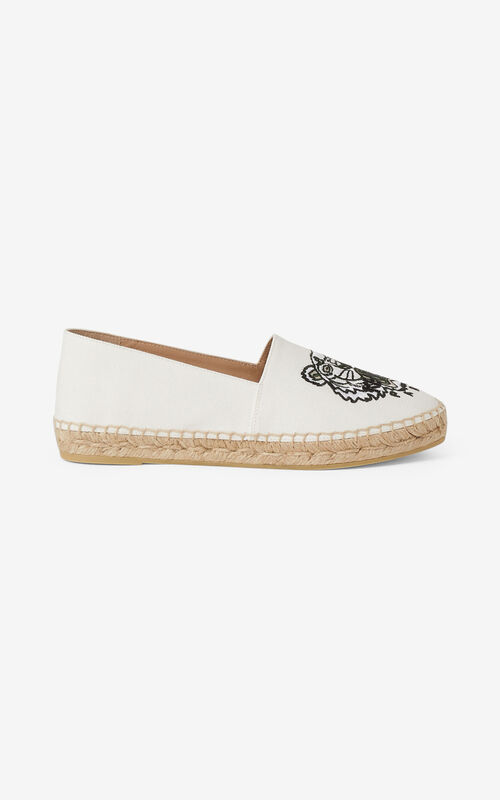 OFF WHITE Canvas Tiger espadrilles for unisex KENZO