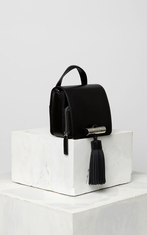 BLACK Mini Sailor Bag in leather for unisex KENZO