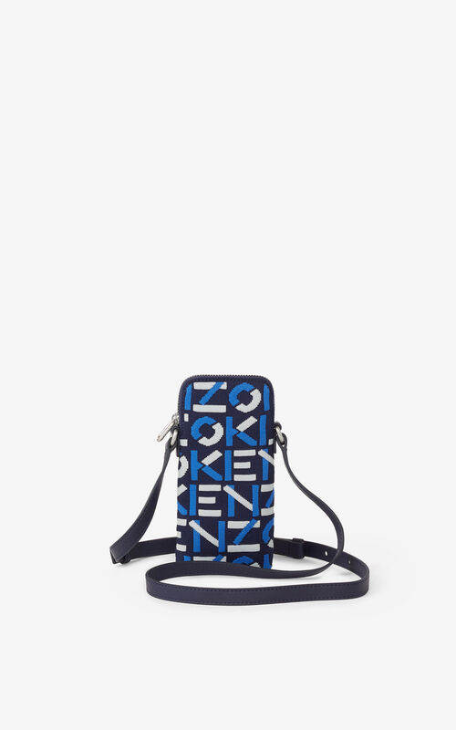 MIDNIGHT BLUE Skuba phone pouch with strap for men KENZO