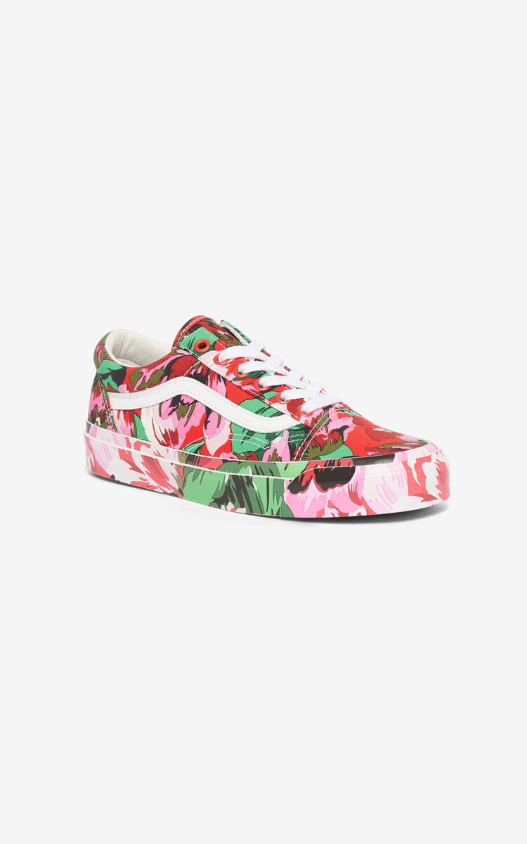 MEDIUM RED OLD SKOOL 'Tulipes' KENZO/VANS sneakers  for women