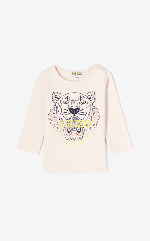 67123d15 FADED PINK Tiger t-shirt for women KENZO ...