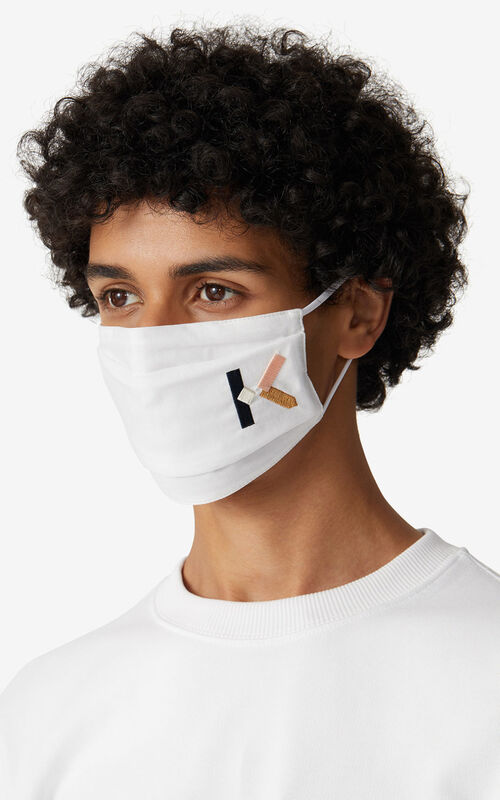 MULTICOLOR KENZO Logo pack of 3 face protection masks tricolor for men