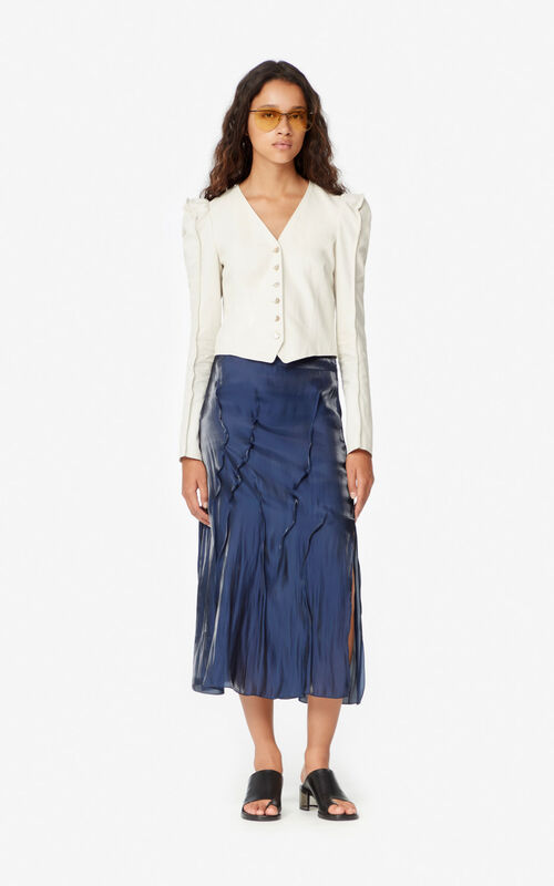 MIDNIGHT BLUE Midi skirt for women KENZO