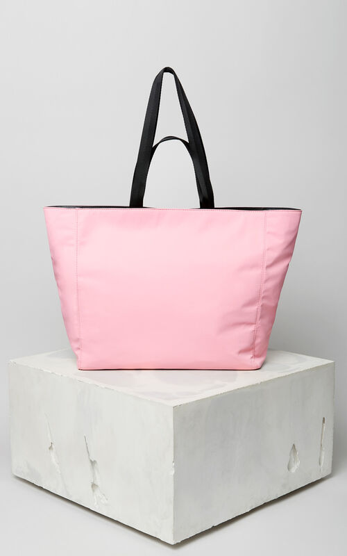FLAMINGO PINK KENZO Logo tote bag for women