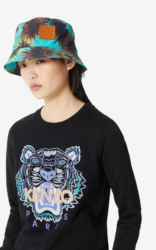 BLACK Tiger sweatshirt for women KENZO