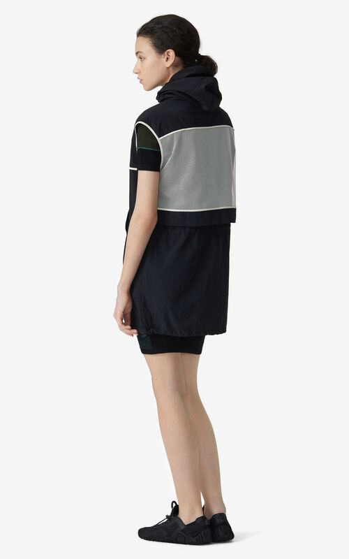 BLACK KENZO Sport 'Little X' sleeveless dress for women