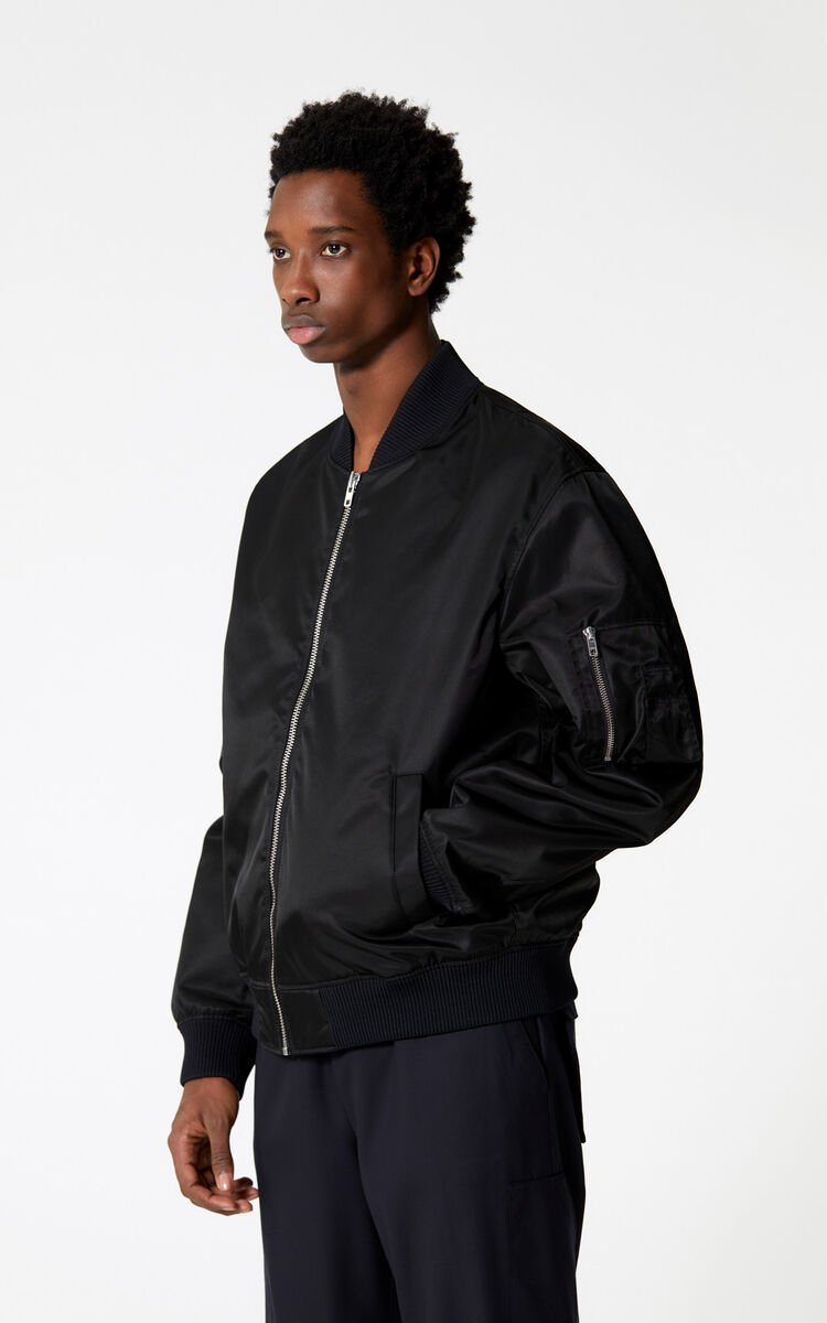 BLACK KENZO Signature bomber jacket for men