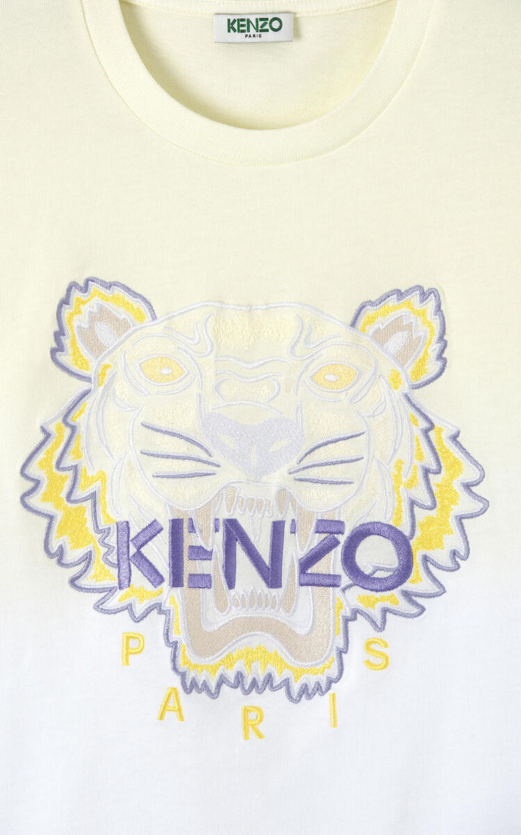 BISCUIT Gradient Tiger t-shirt for women KENZO