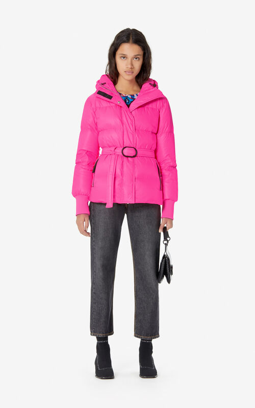DEEP FUSCHIA Quilted puffer jacket for women KENZO