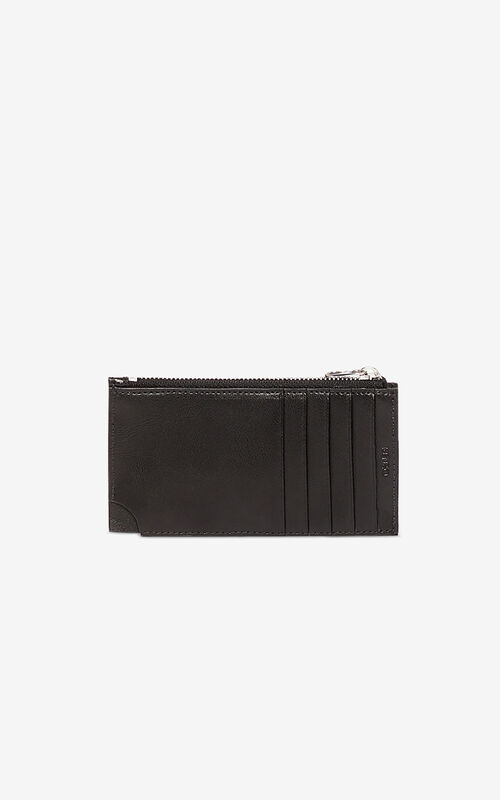 BLACK Zipped Eye cardholder for unisex KENZO