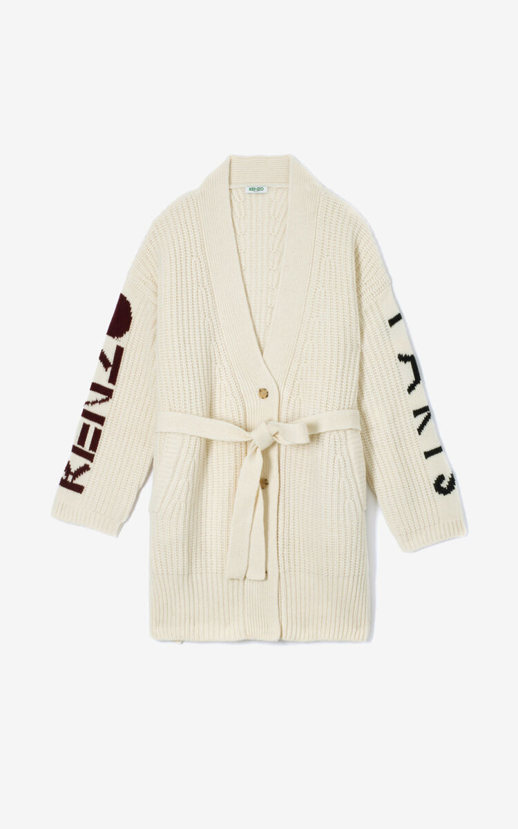 ECRU KENZO Paris long cardigan  for women