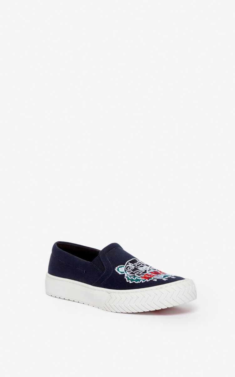 NAVY BLUE K-Skate Tiger slip-ons for women KENZO