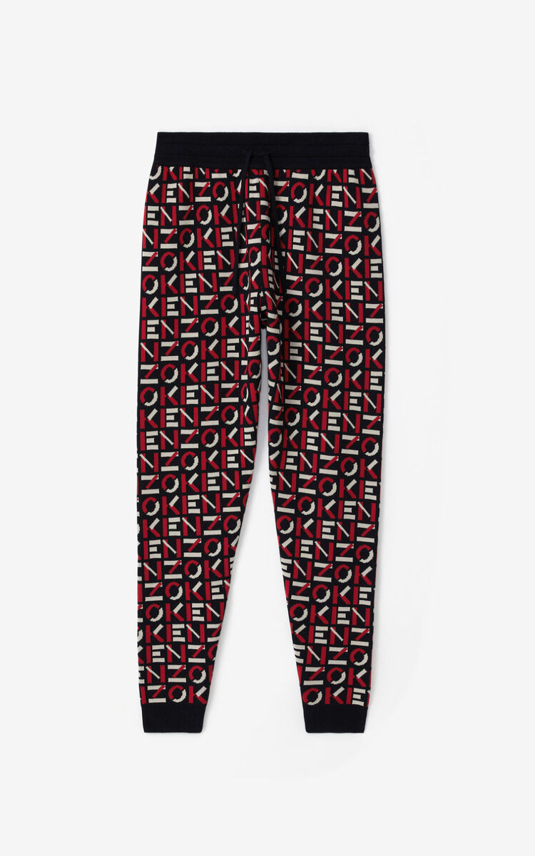 MEDIUM RED KENZO Sport jacquard monogram trousers for women