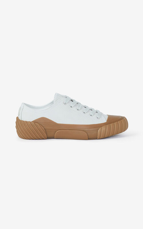 OFF WHITE Tiger Crest leather trainers for unisex KENZO