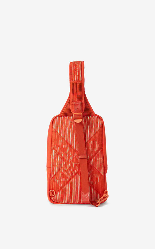 DEEP ORANGE KENZO Sport backpack with strap  for men