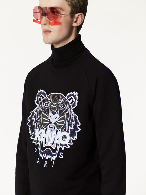 BLACK Tiger x Checkers Sweatshirt for men KENZO
