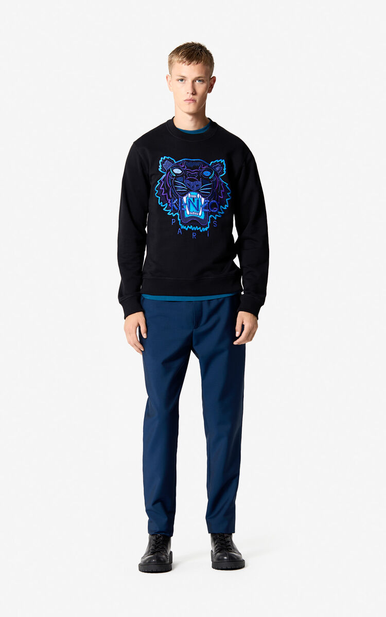 BLACK Tiger sweatshirt 'Holiday Capsule' for women KENZO