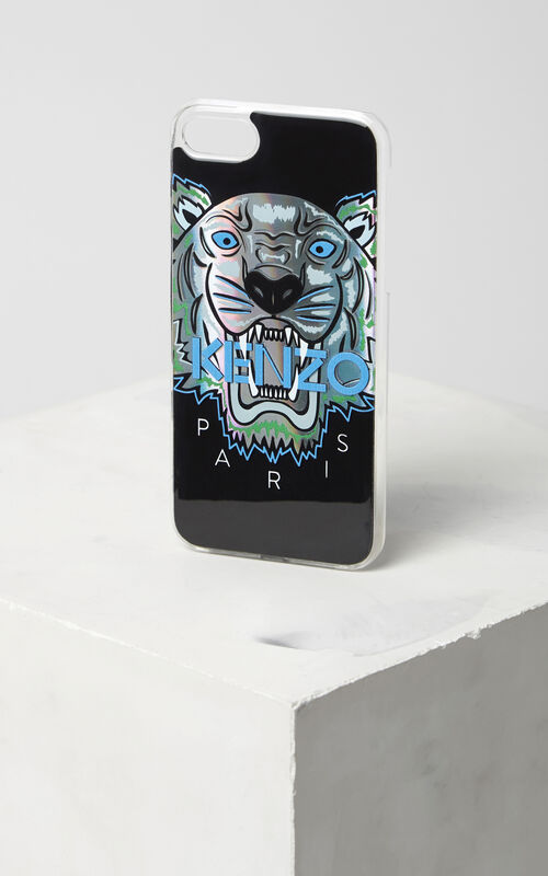 BLUE BLACK 'Northern Lights' Tiger iPhone 7 case for unisex KENZO