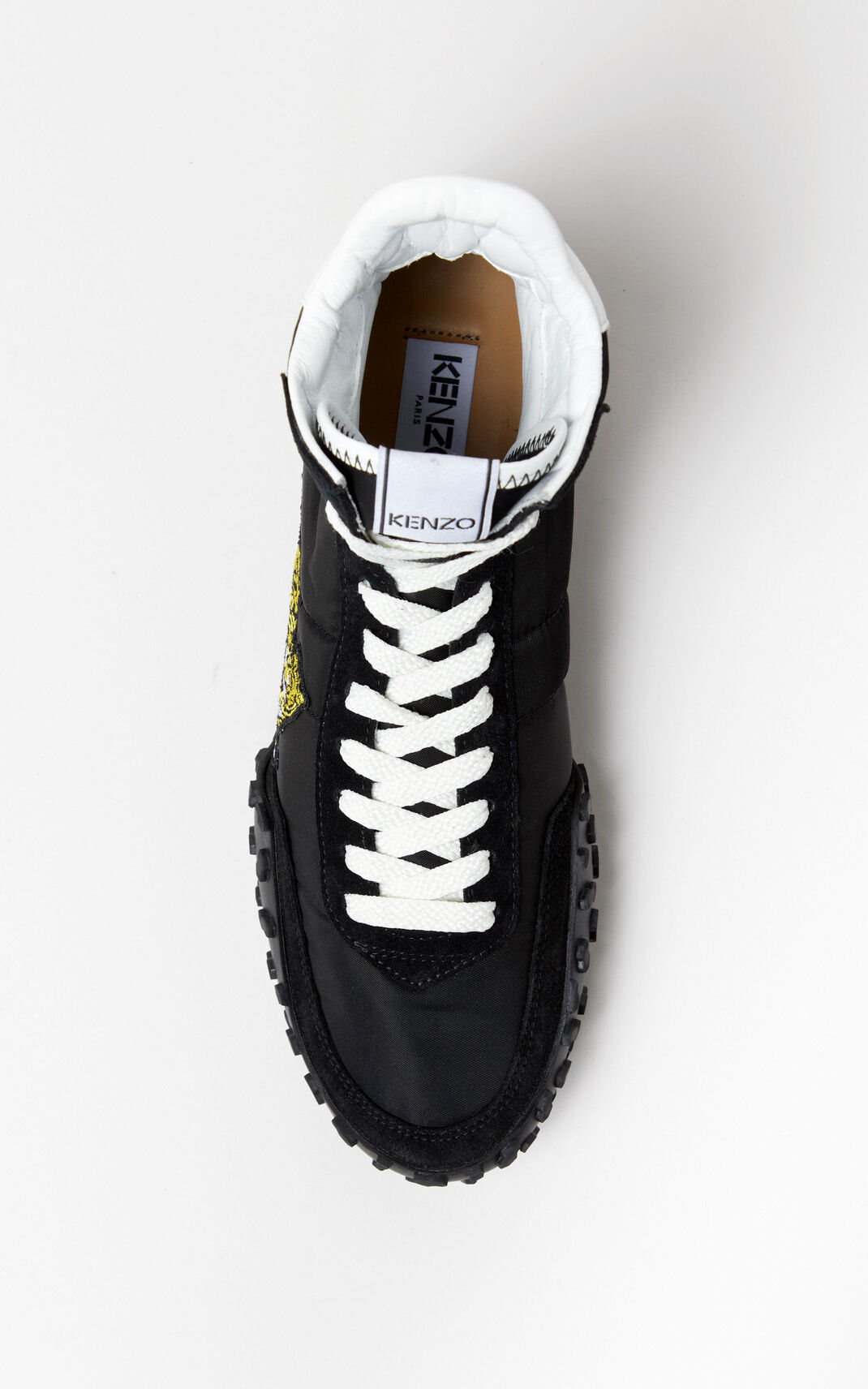 BLACK KENZO MOVE high-top sneakers for women