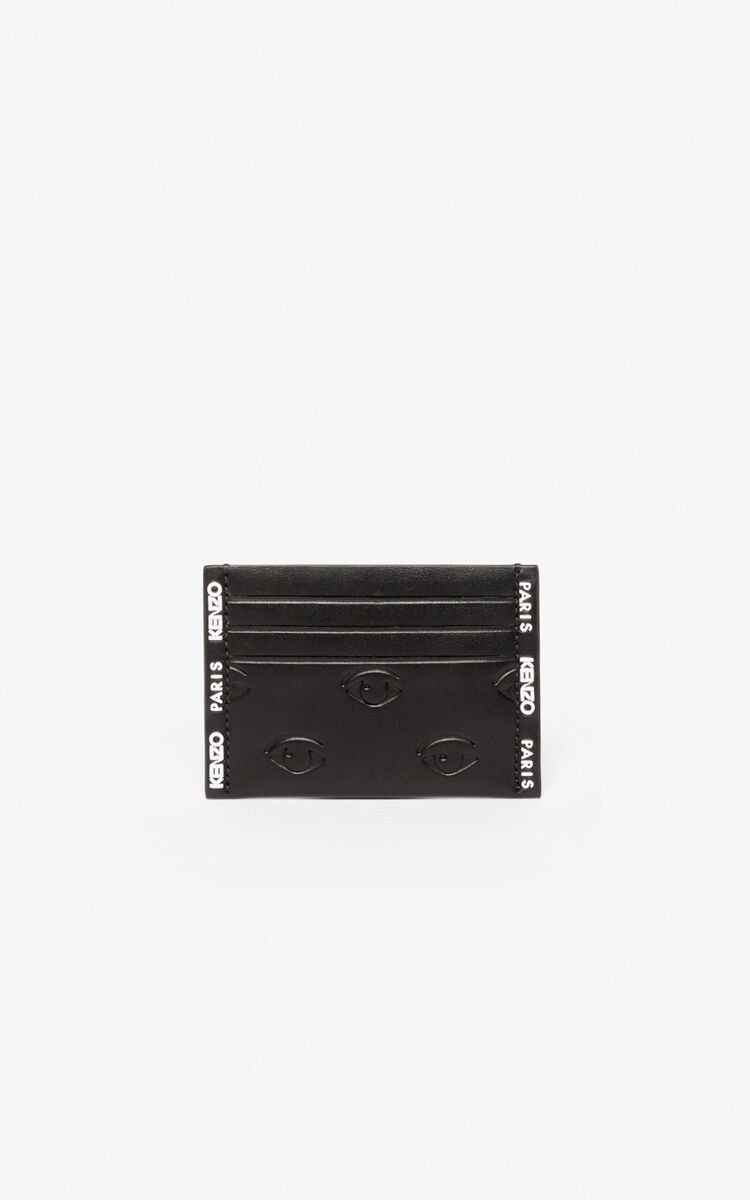 BLACK Multi-Eye card holder for unisex KENZO