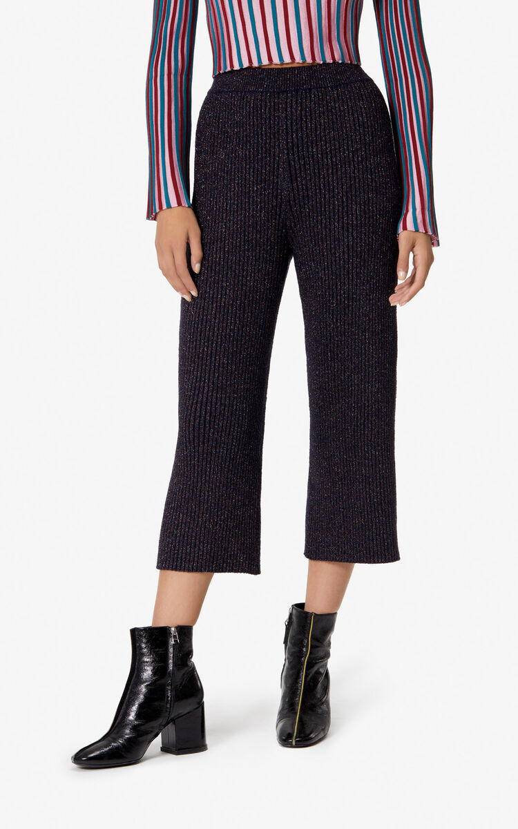 NAVY BLUE Knit culottes for women KENZO