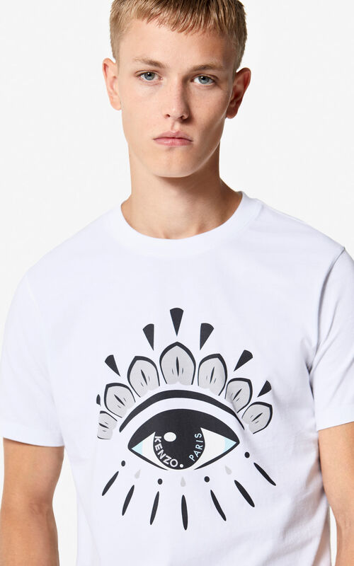 WHITE Eye t-shirt for men KENZO ... fcfa6fdc7