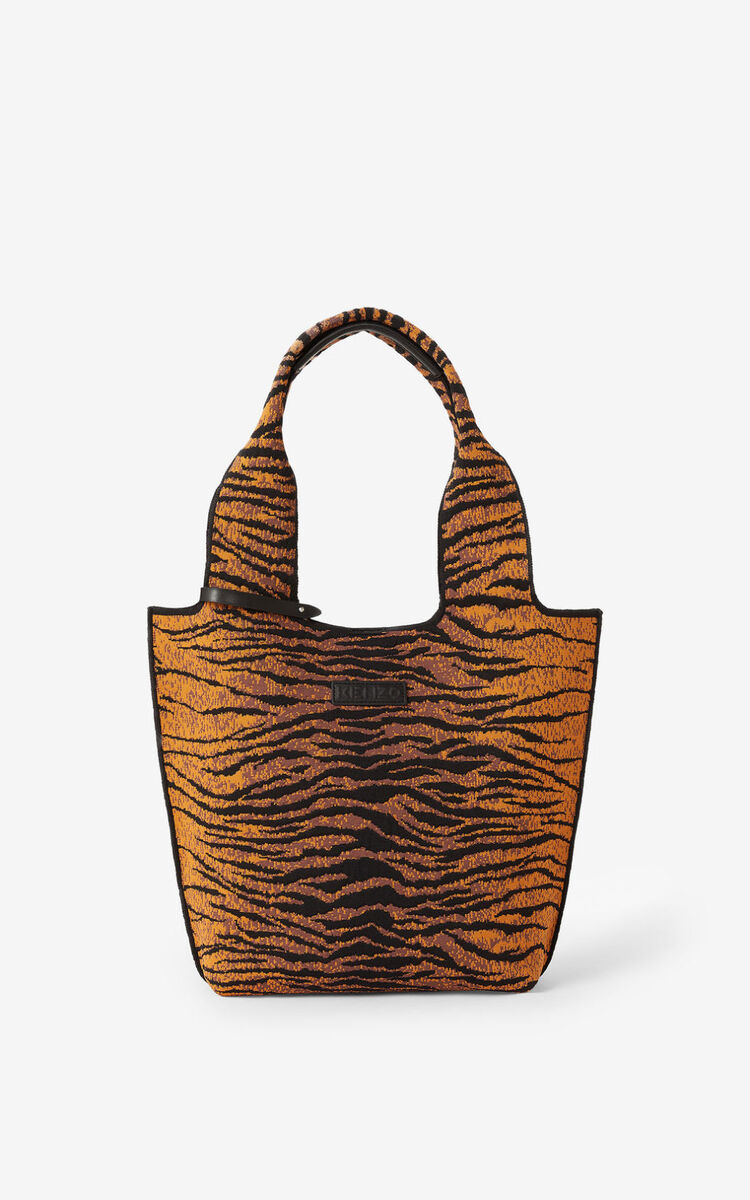 PALE KHAKI 'KENZO Tiger' Skuba small tote bag for women