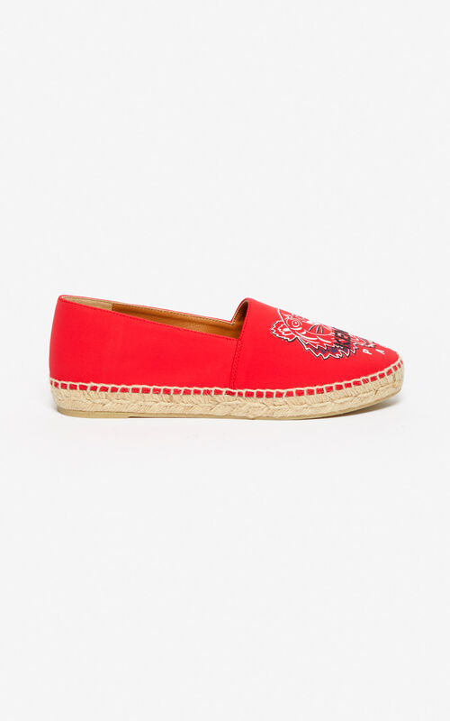 MEDIUM RED Tiger neoprene espadrilles for unisex KENZO