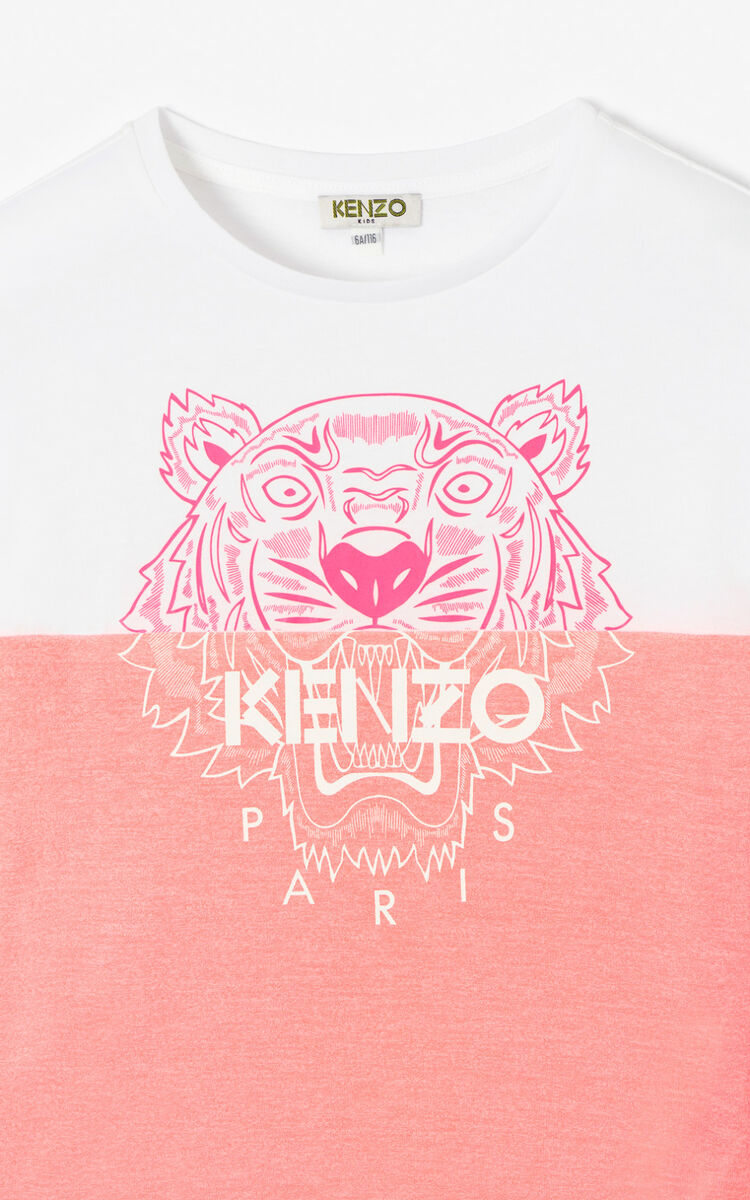 MAGENTA Two-toned Tiger t-shirt for men KENZO