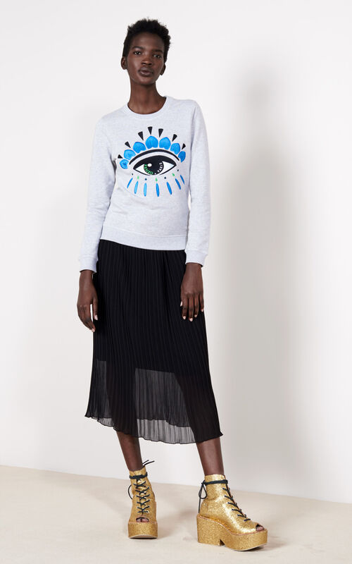 PALE GREY Eye Sweatshirt for women KENZO