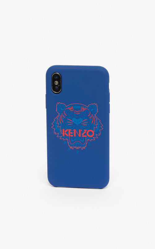 NAVY BLUE iPhone X/XS Tiger case for unisex KENZO