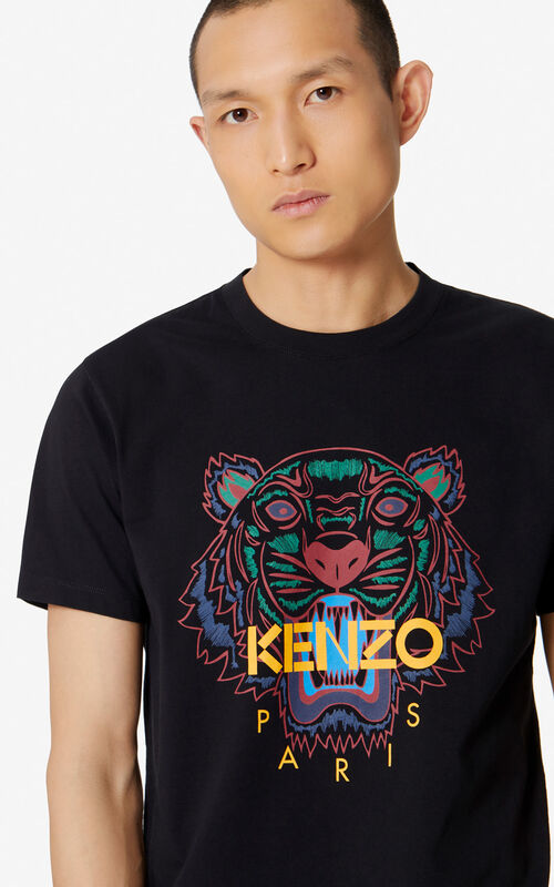 4bdb372f9b58d7 BLACK Tiger T-shirt for men KENZO ...