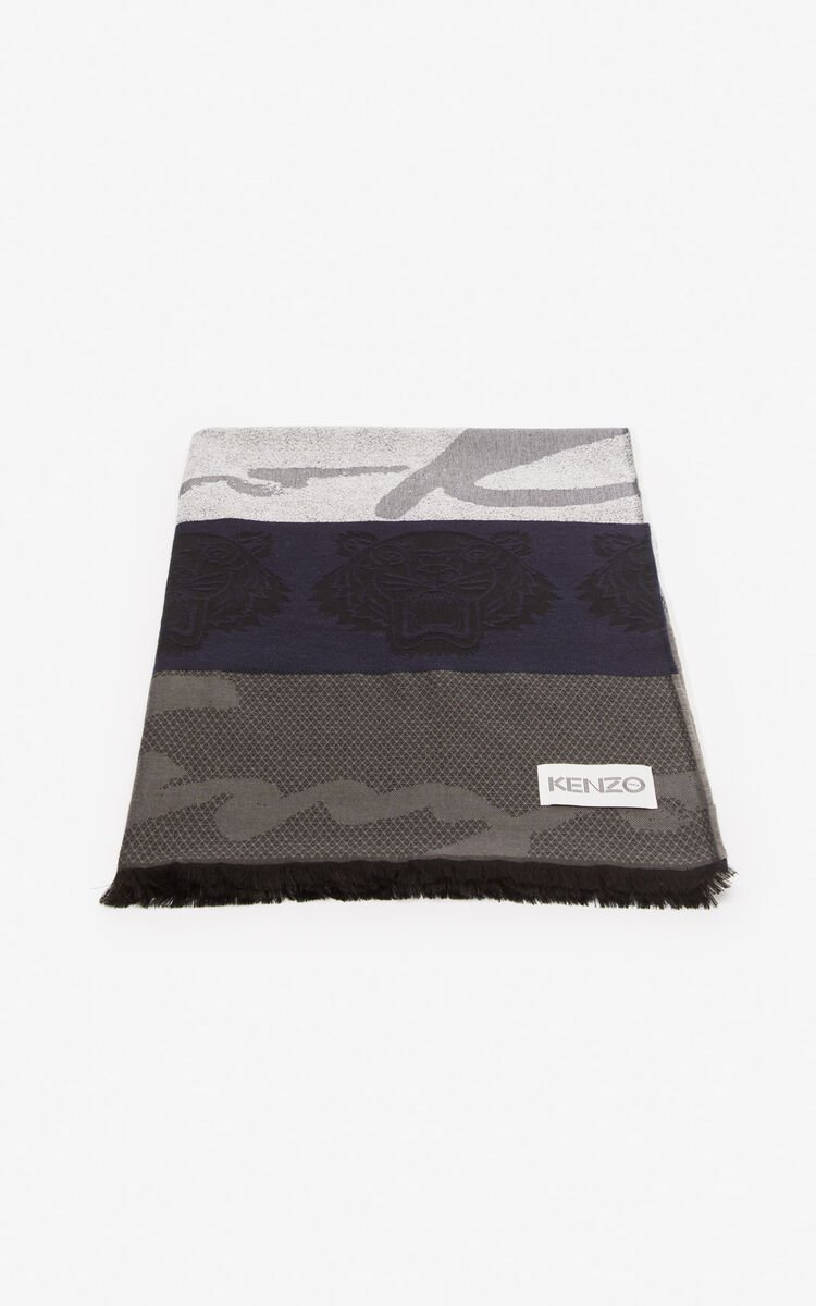 MIDNIGHT BLUE Multi icon scarf for women KENZO