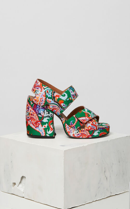GRASS GREEN Aori heeled sandals for women KENZO
