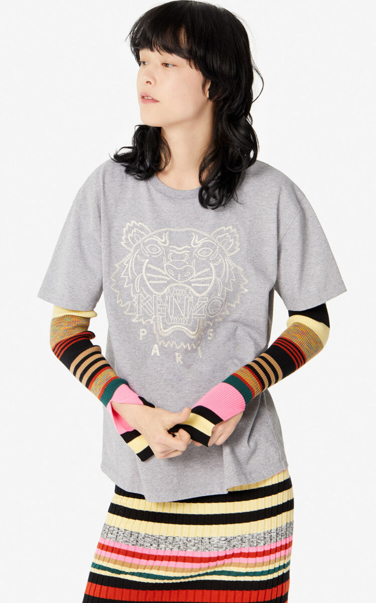 PEARL GREY 'Capsule Expedition' Tiger T-shirt for women KENZO