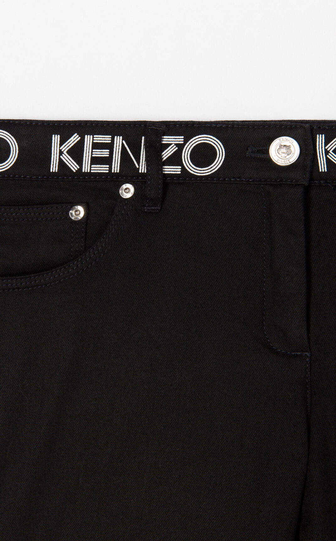 BLACK Slim Jeans KENZO Logo for women