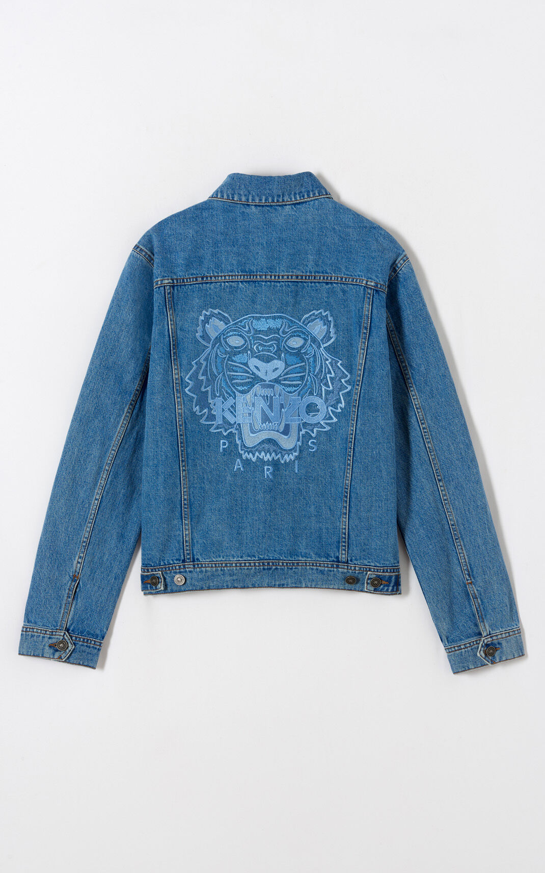 LIGHT BLUE Tiger denim jacket for men KENZO
