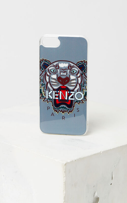 PALE GREY Tiger iPhone 8 case for unisex KENZO