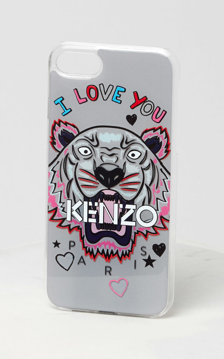 PALE GREY I Love You iPhone Case 7/8 for unisex KENZO