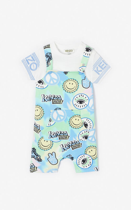 GREEN 'Cali Party' T-Shirt and Dungarees Set for unisex KENZO