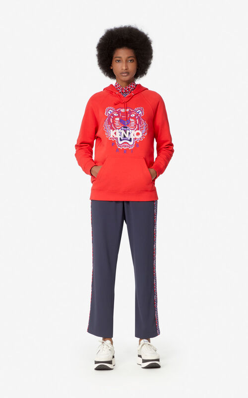 MEDIUM RED Tiger hooded sweatshirt  for women KENZO