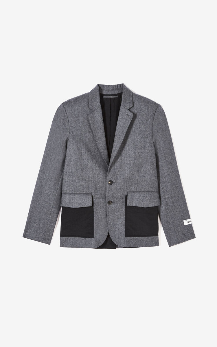 MIDDLE GREY 'Expedition' jacket for men KENZO