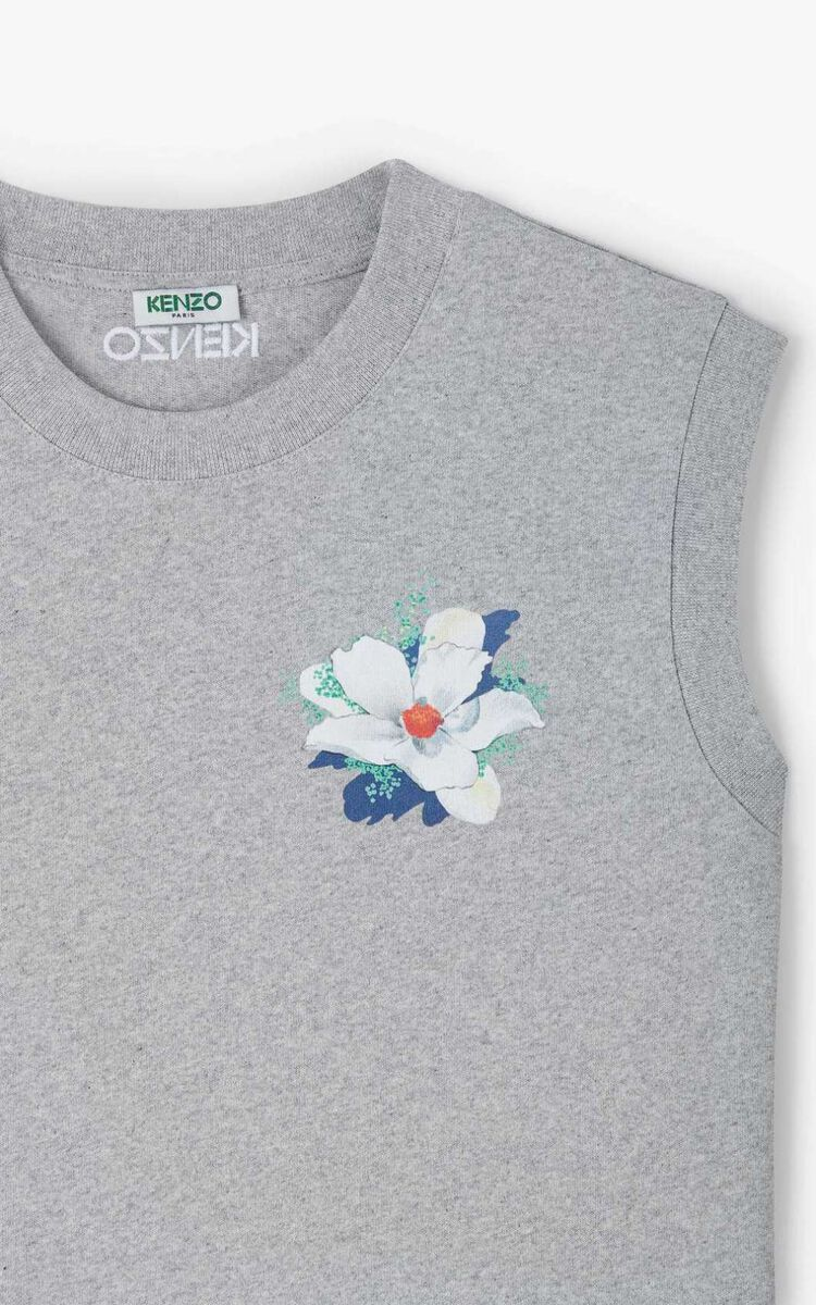 ANTHRACITE 'Gardenias' vest top for women KENZO