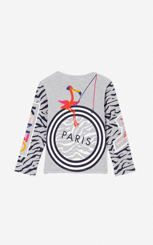 MIDDLE GREY Multi-icons 'Frozen' t-shirt for women KENZO