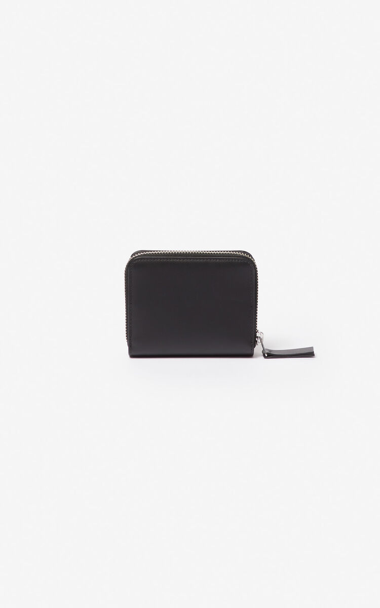BLACK Small K-Bag leather wallet for unisex KENZO