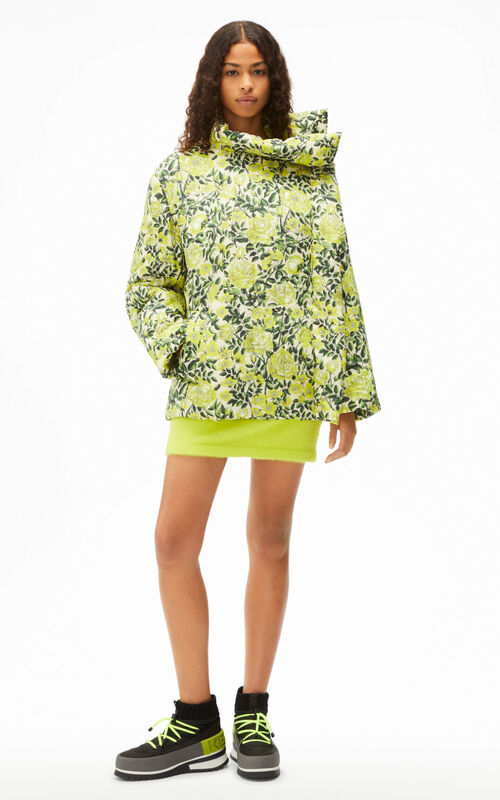 ABSINTHE 'Botanical Rose' printed lightweight quilted jacket for women KENZO