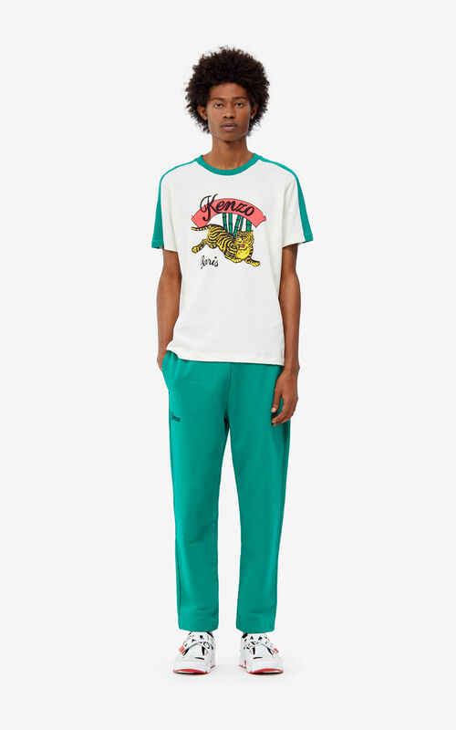 ECRU 'Bamboo Tiger' T-shirt for men KENZO