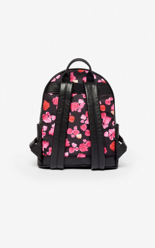 ROSE Kombo 'Peonie' backpack for unisex KENZO