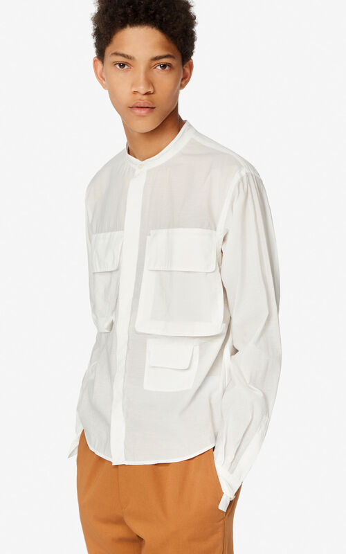 WHITE Safari shirt for men KENZO
